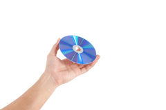 Hand holding a disc Stock Images