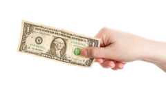 Hand holding dollar Stock Photos