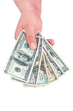 Hand holding dollar banknotes Stock Image