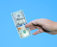 Hand holding dollar notes Royalty Free Stock Photography