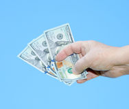 Hand holding dollar notes Royalty Free Stock Image