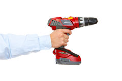 Hand holding drill Stock Images