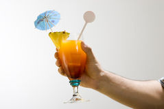 Hand holding a drink Stock Images