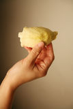 Hand holding durian Royalty Free Stock Photos
