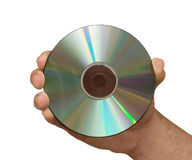 Hand holding DVD Stock Images