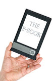 Hand holding E-book gadget Royalty Free Stock Image