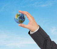Hand holding earth Royalty Free Stock Photo