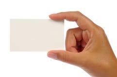 Hand holding an empty business card Stock Photos