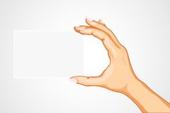 Hand Holding Empty Card Stock Photography