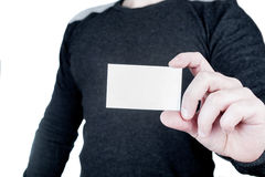 Hand holding empty card Royalty Free Stock Photo