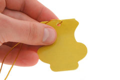 Hand holding an empty tag #2 Stock Image