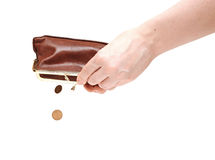 Hand holding empty wallet Royalty Free Stock Photo
