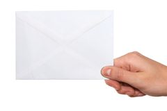 Hand  holding envelope Royalty Free Stock Image