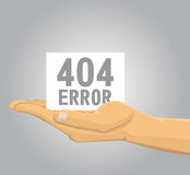 Hand holding a 404 error note Stock Photography