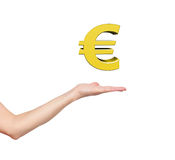 Hand holding euro Royalty Free Stock Photo
