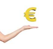 Hand holding euro Royalty Free Stock Photo