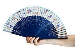 Hand holding a fan Stock Photography