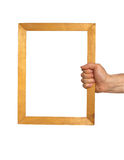Hand holding frame Royalty Free Stock Photography