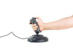Hand Holding Gaming Joystick Isolated. On White Background Royalty Free Stock Photos