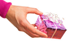 Hand holding gift Stock Image
