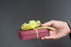 Hand holding a gift Royalty Free Stock Photography