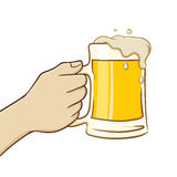 Hand Holding A Glass of Beer Stock Image