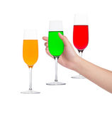 Hand  holding a glass of soft drink Royalty Free Stock Images