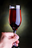 Hand holding glass of wine Royalty Free Stock Photos