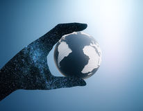 Hand holding globe Royalty Free Stock Photo