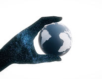 Hand holding globe Stock Photos