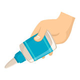Hand holding Glue Royalty Free Stock Photos