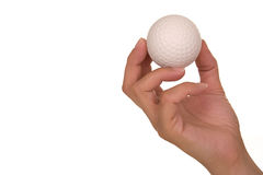 Hand holding golf ball Stock Photos