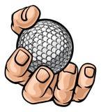 Hand Holding Golf Ball royalty free illustration
