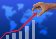 Hand holding graph Stock Image