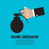 Hand Holding A Grenade. Stock Image