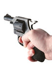 Hand holding gun Stock Images