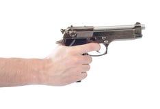 Hand holding gun Royalty Free Stock Photo