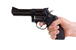 Hand Holding Gun Stock Images