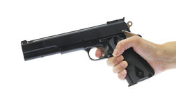 Hand holding gun Royalty Free Stock Image