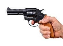 Hand holding gun Royalty Free Stock Photo