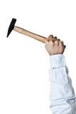 Hand holding hammer Royalty Free Stock Photo