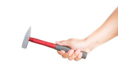 Hand holding hammer Stock Photography
