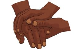 Hand holding hand together  Stock Images