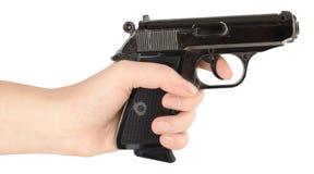 Hand holding a handgun. Royalty Free Stock Photography