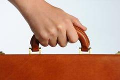Hand holding handle Stock Photo