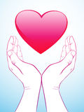 Hand holding heart Royalty Free Stock Photo
