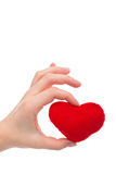 Hand holding heart Royalty Free Stock Images