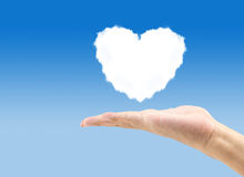 Hand holding heart cloud Royalty Free Stock Photo