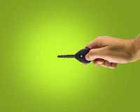 Hand holding his car key Stock Image