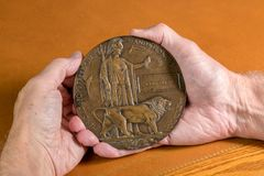 World War 1 Memorial plaque for soldier who died in 1916 Stock Image